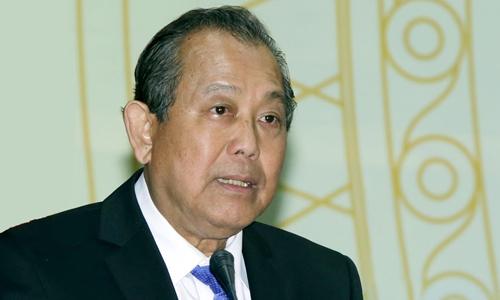 Phó thủ tướng Trương Hoà Bình phát biểu tại Hội nghị. Ảnh: Hoàng Thuỳ