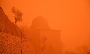 Biển bụi màu cam nhấn chìm vùng đông nam Thổ Nhĩ Kỳ