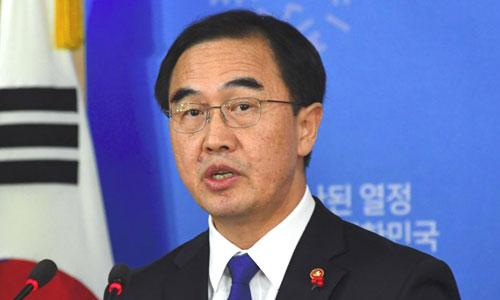 Ông Cho Myung-gyon, Bộ trưởng Thống nhất Hàn Quốc. Ảnh: Yonhap.