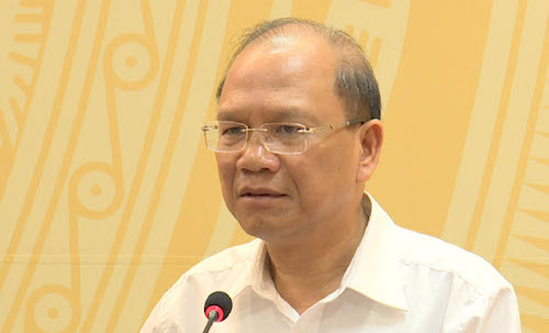 Bí thư Bình Thuận Nguyễn Mạnh Hùng đề nghị tạo cơ hội để người có tài, có đức được cống hiến cho đất nước. Ảnh: PV