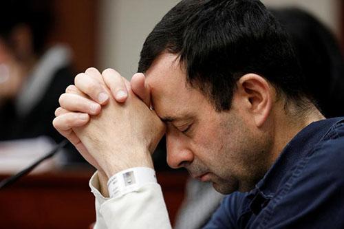 Larry Nassar, 54 tuổi, tại phiên tòa kết án ngày 19/1. Ảnh: Reuters.