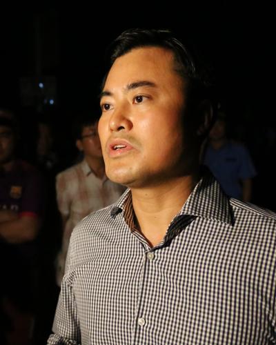 Ông Bùi Xuân Cường tại hiện trường vụ sập cầu. Ảnh: Duy Trần