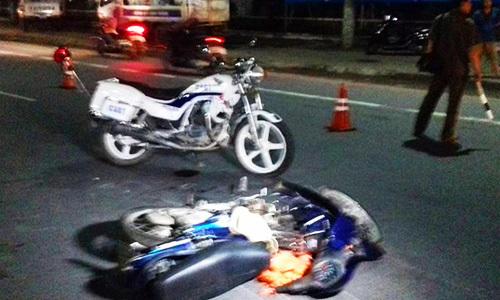 Môtô CSGT va chạm xe máy, người đàn ông tử vong