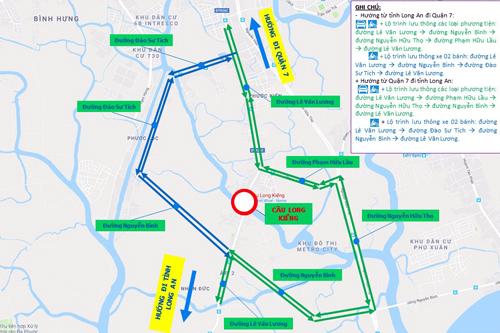 Cầu bị sập ở Sài Gòn được sữa chữa theo lệnh khẩn cấp
