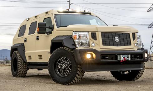 Chiếc xe độ USSV Rhini GX Excutive của một hãng độ xe tại Mỹ.