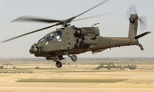 Một chiếc trực thăng AH-64 Apache. Ảnh: Wikipedia.