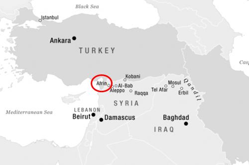 Vị trí của Afrin. Đồ họa: ICG.