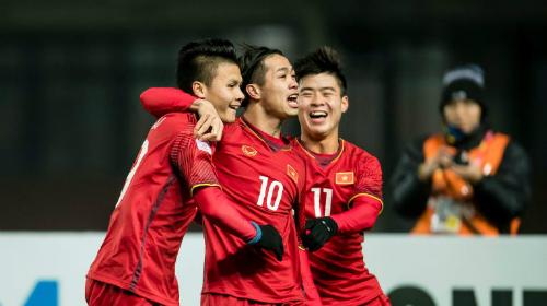 Việt Namđã giành thắng lợi sau loạt sút luân lưu 11m trước Iraq. Ảnh: Anh Khoa