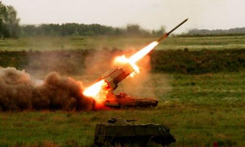 Một hệ thống pháo nhiệt áp TOS-1 của Nga. Ảnh:Sputnik.