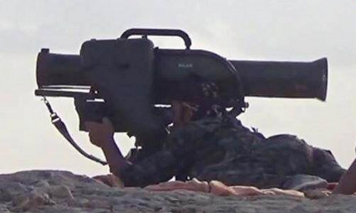 Tên lửa MILAN trong tay lực lượng YPG. Ảnh: Wikipedia.