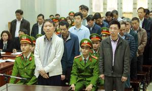 Thẩm phán đọc bản án với ông Đinh La Thăng và các đồng phạm