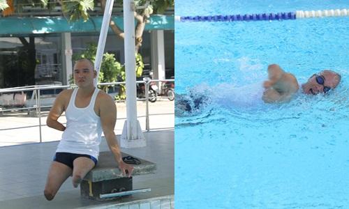 Tinh thần thép trong nghịch cảnh của vận động viên bơi lội khuyết tật quốc gia.