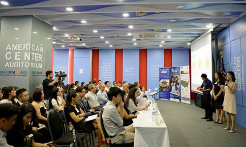 Cuộc trao đổi về thử thách khởi nghiệpTrung tâm Mỹ hồi tháng 6/2017. Ảnh: Đại sứ quán Mỹ tại Việt Nam.