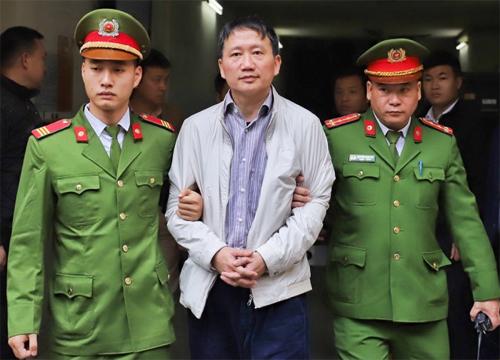 Ông Trịnh Xuân Thanh sau khi tuyên án sáng 22/1. Ảnh: Giang Huy