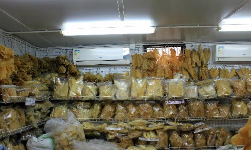 Cửa hàng bán vây cá mập tại Hong Kong. Ảnh: SCMP.