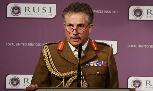 Tổng tham mưu trưởng quân đội Anh Nick Carter. Ảnh: Guardian.