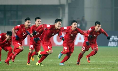 Các thành viên đội tuyển bóng đá U23 Việt Nam. Ảnh: Anh Khoa.