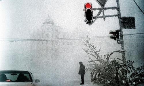 [Đường phố mờ sương ở Yakutsk. Ảnh:Steeve Iuncker.