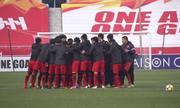 Buổi tập cuối cùng của Việt Nam trước trận bán kết với Qatar