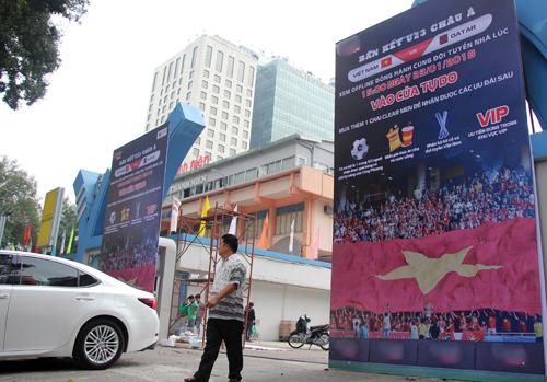 Nhà văn hóa Thanh Niên có 4.000 chỗ xem trận bán kết. Ảnh: Duy Trần