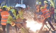 1.500 công nhân Trung Quốc làm đường sắt mới trong 9 tiếng