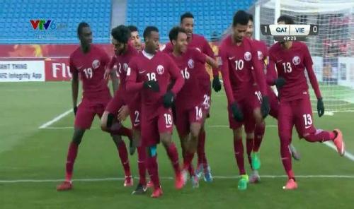 Điệu nhảy về nước của đội tuyển U23 Qatar.