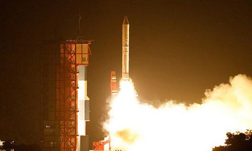 Tên lửa Epsilon rời bệ phóng. Ảnh: JXAA.