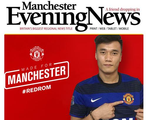 Trong khi đó một tờ báo khác khẳng định thủ thành người Thanh Hóa đã là người của Man Utd.