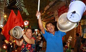Ảnh ăn mừng 'độc nhất vô nhị' sau chiến thắng của U23 Việt Nam