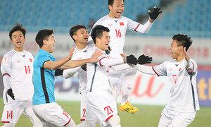 Hai loạt sút luân lưu 11m giúp Việt Nam vào chung kết U23 châu Á