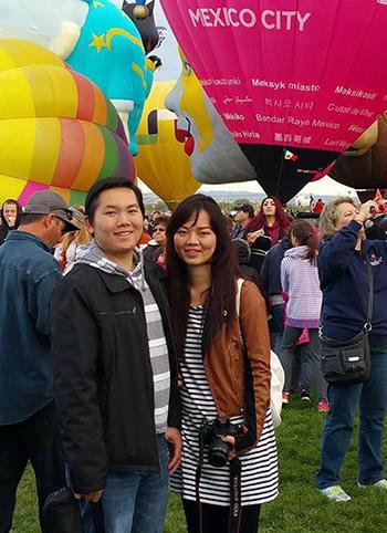 Anh Luân Nguyễn và vợ đang sinh sống tại bang New Mexico, Mỹ. Ảnh: NVCC
