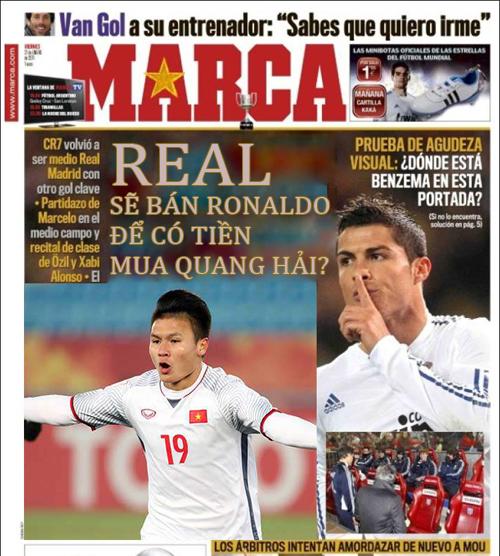 Tờ Marca cũng thông tin, Real cũng đã gia nhập cuộc đua giành Quang Hải.