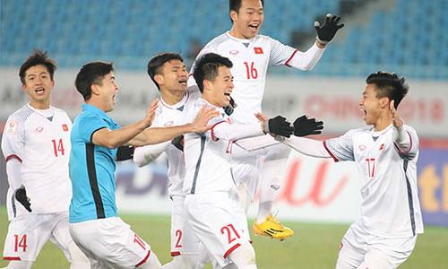 U23 Việt Nam viết lên câu chuyện kỳ tích ở giải U23 châu Á khi lần đầu tiên giành quyền chơi chung kết.Ảnh: Anh Khoa