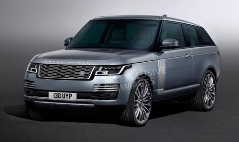 Hình ảnh phác họa được cho là chiếc Range Rover SV Coupe sắp trình làng.