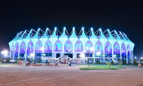 Sân vận động 150 triệu USD của câu lạc bộ Bunyodkor tại thủ đô Tashkent của Uzbekistan. Ảnh: Bynyodkor.