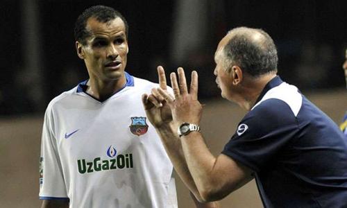 Rivaldo (trái) trong thời gian thi đấu cho Bynyodkor. Ảnh: Blick.