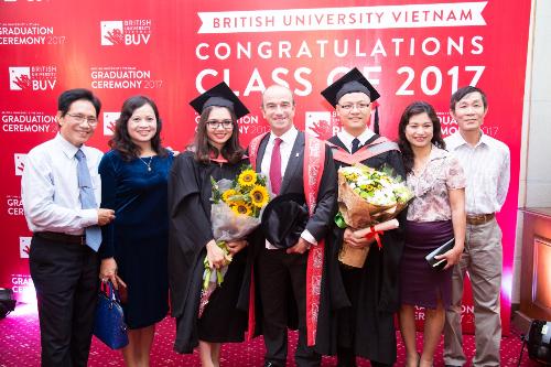 Cử nhân tốt nghiệp tại Đại học Anh quốc Việt Nam (British University Vietnam - BUV).