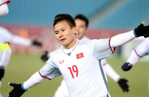 Cầu thủ Quang Hải vừa được Fox Sports lựa chọn vào danh sách những cầu thủ Đông Nam Á chơi hay nhất ở U23 châu Á. Ảnh: A.K