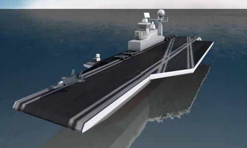 Thiết kế sơ bộ của tàu sân bay INS Vishal. Đồ họa: Indian Navy.