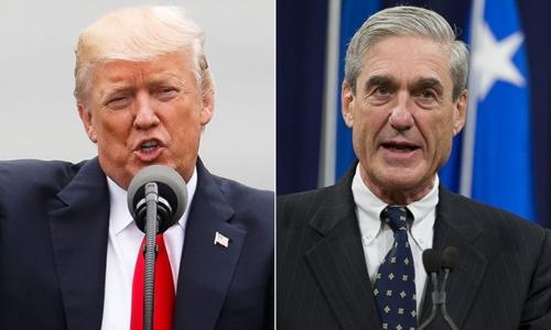 Tổng thống Mỹ Donald Trump (trái) và công tố viên đặc biệt Robert Mueller. Ảnh: Reuters.
