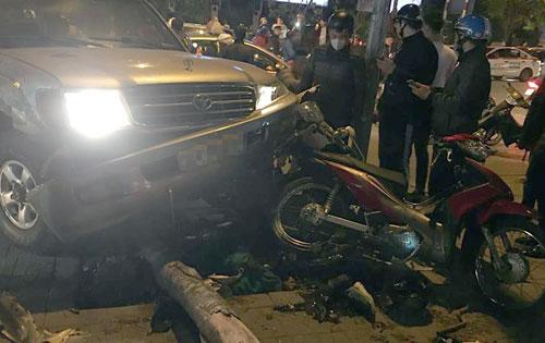 Hiện trường vụ tai nạn. Ảnh: Nguyễn Hùng.