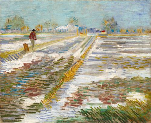 Bức tranh của danh họa Vincent van Gogh Nhà Trắng được cho muốn mượn của bảo tàng. Ảnh: CNN.