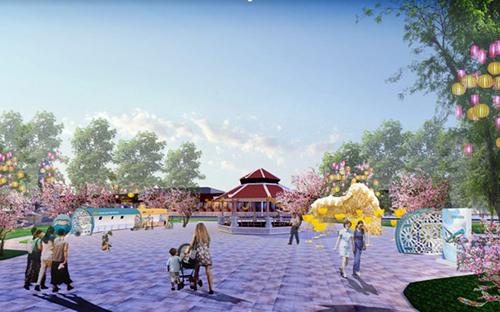 Phối cảnh sự kiện Không gian văn hóa tại khu vực tượng đài Lý Thái Tổ