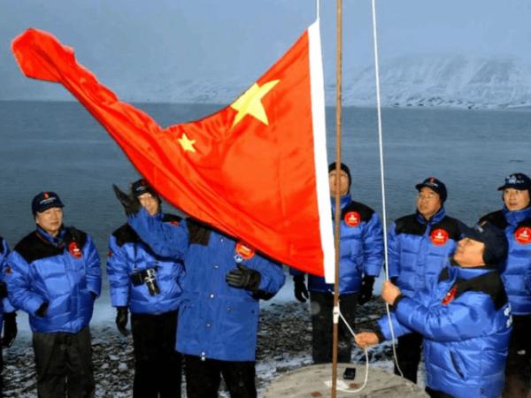Trung Quốc lập trạm giám sát tại Vòng Bắc Cực năm 2001. Ảnh: AP.