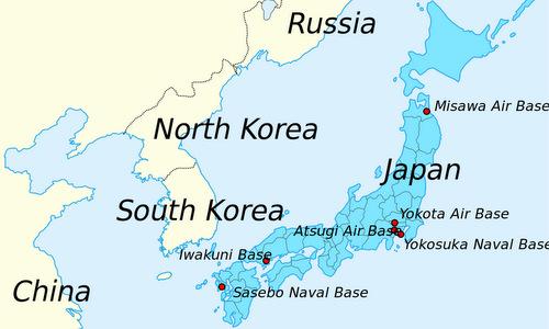 Căn cứ Misawa ở đông bắc Nhật Bản. Đồ họa: Wikipedia.