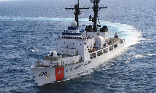 Tàu tuần tra xa bờ USCGC Sherman. Ảnh: USCG.