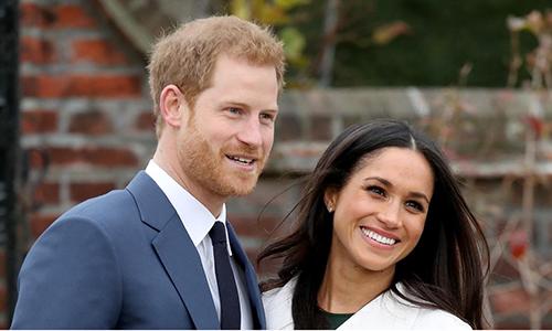 Hoàng tử Anh Harry và diễn viên người Mỹ Markle sẽ kết hôn vào ngày 19/5. Ảnh: The Australian.
