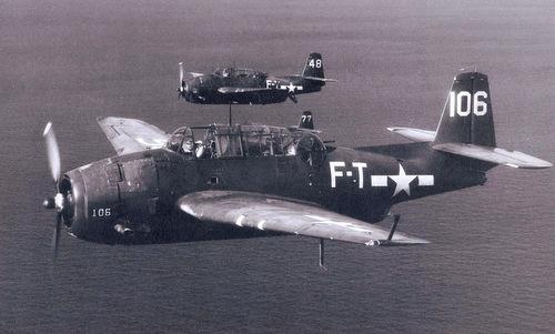 Oanh tạc cơ TBM cùng loại với máy bay mất tích thuộc Phi đội số 19. Ảnh: Wikipedia.