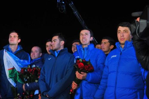 Uzbekistan là nước Trung Á đầu tiên giành chức vô địch giải U23 châu Á. Ảnh: Gazeta.
