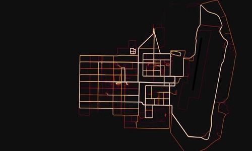 Một bản đồ thể hiện các tuyến đường chạy bộ củaStrava Labs. Ảnh:Strava.